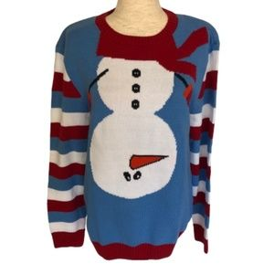 NWT Ugly Christmas Sweater w/ Upside down Snowman